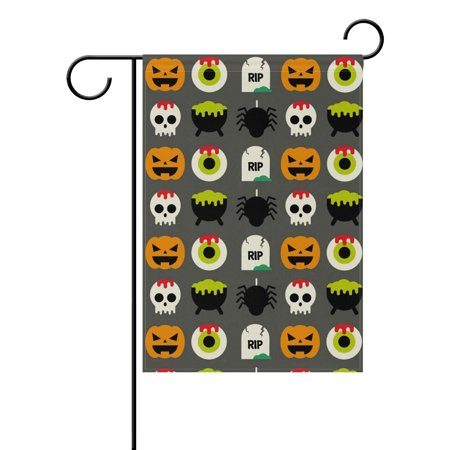 POPCreation Colorful Halloween Elements Polyester Garden Flag Outdoor Flag Home Party Garden Decor 28x40 inches](Element Halloween Party)