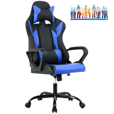 Gaming Office Chair High Back Racing Chair Pu Leather Chair Reclining Computer Desk Chair