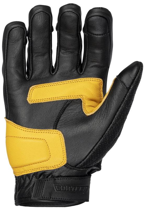 Small Cortech Womens Scrapper Leather Gloves Black