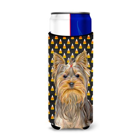 Candy Corn Halloween Yorkie / Yorkshire Terrier Ultra Beverage Insulators for slim cans KJ1212MUK