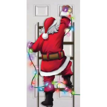 CHRISTMAS DOOR COVER-SANTA DECORATE 12
