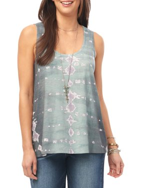 Printed Stretch Tank Top