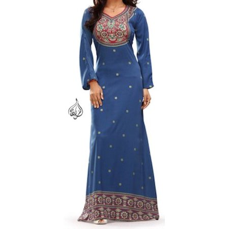 Beautiful Long Dress, Indian Caftan, Kaftan Dresses | Christmas | SIREEN BLUE | Bust Size 44