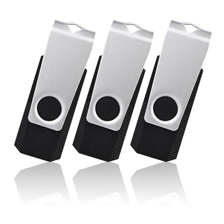 KOOTION 3PCS 32GB USB 2.0 Flash Drive Memory Stick Fold Storage Thumb Stick Pen Swivel Design, 32G, 3PCS, - Design Memory