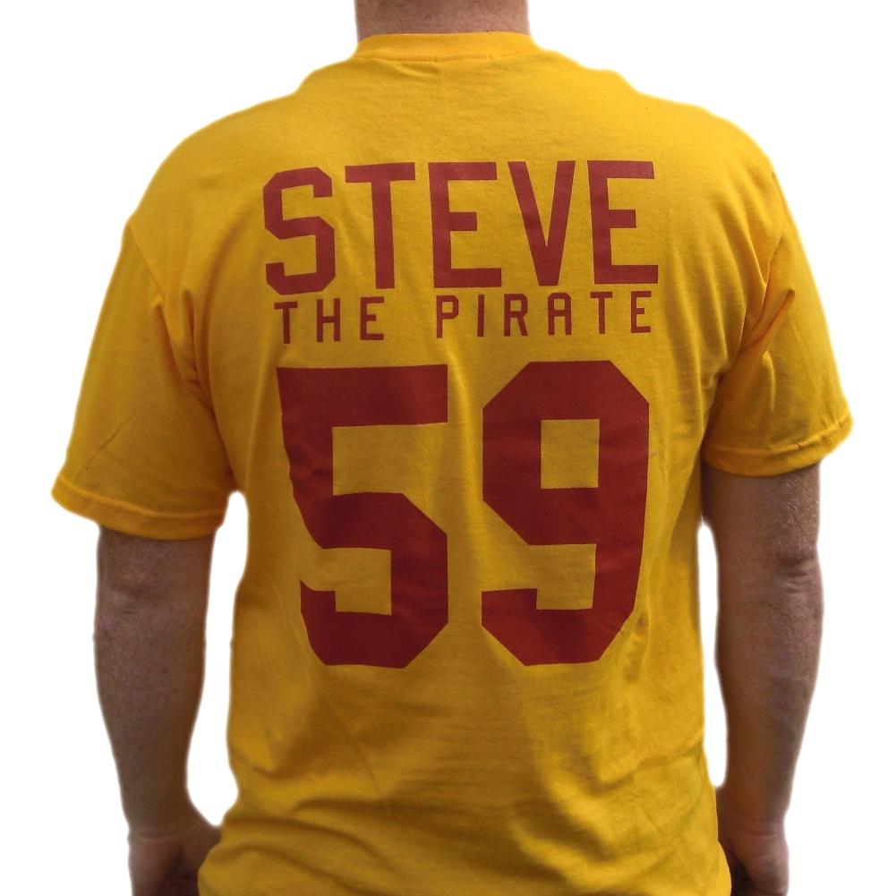 Steve The Pirate #59 Average Joe\'s Jersey T-Shirt Dodgeball Movie ...