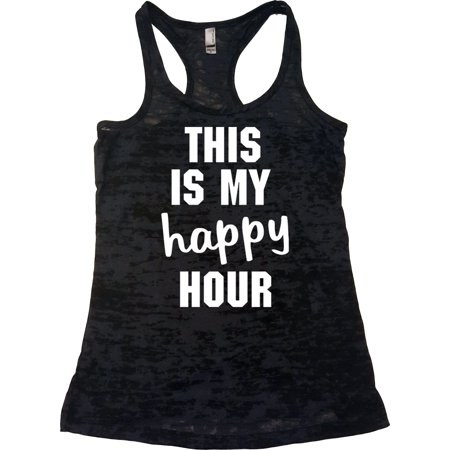 Echona Apparel Womens Workout Clothes - This Is My Happy Hour - Crossfit Tank