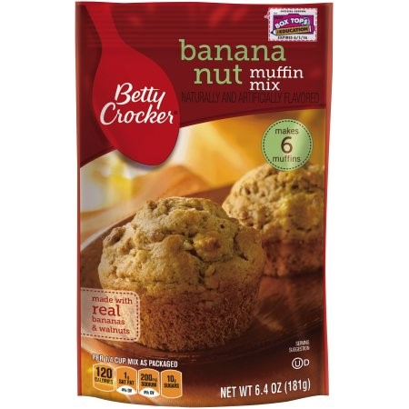 Betty Crocker Muffin Mix, Banana Nut, 6.4 Oz by General Mills