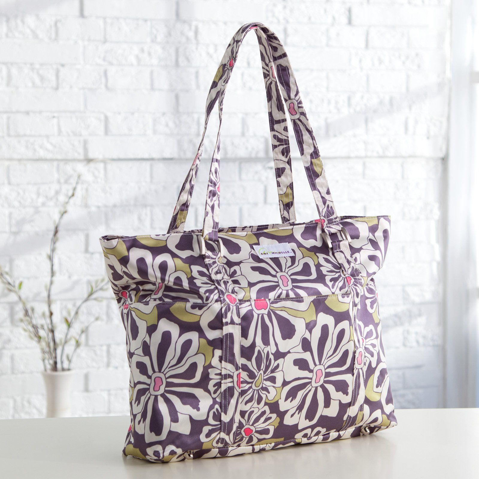 Amy Michelle Austin Go Work Tote - Charcoal Floral
