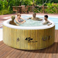 Goplus 4 Person Inflatable Hot Tub Jets Bubble Massage Spa