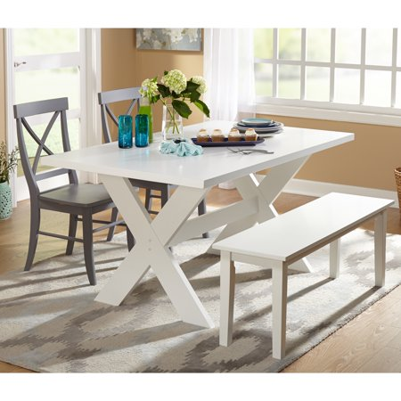 Simple Living 4 Piece Sumner Dining Set With Dining Bench