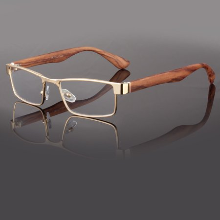 New Clear Lens Square Frame Eye Glasses Designer Womens Mens Fashion Retro (Glass Frames For Square Faces)