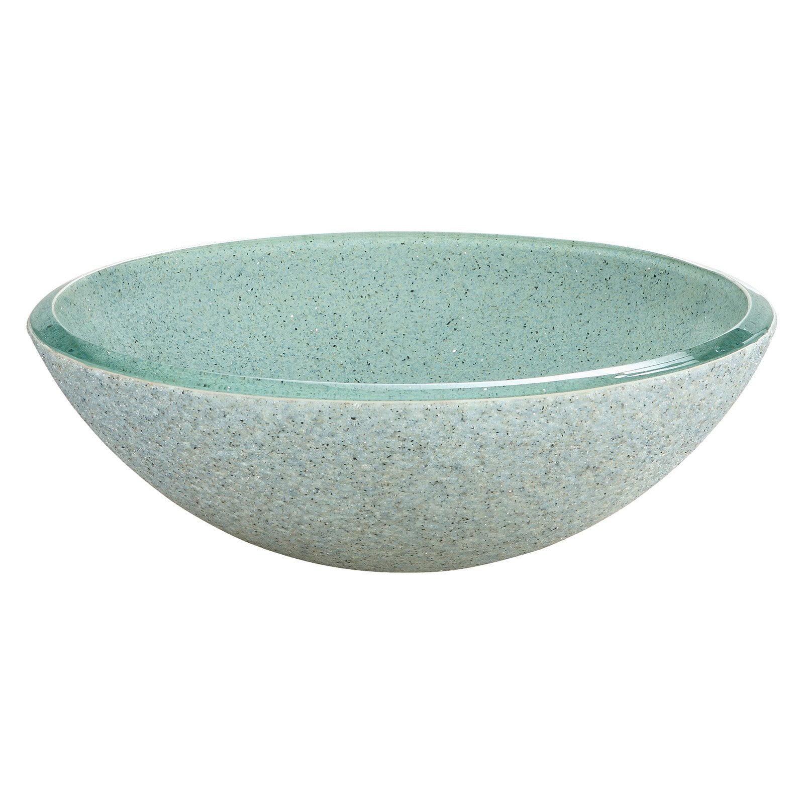 Xylem RVE165 Reflex Round Glass Vessel Sink - Azure Stone