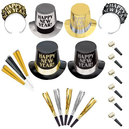 Opulent Affair New Year's Party Kit for 600 Guests, Includes Top Hats and - Top Hats And Tiaras