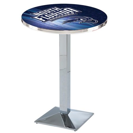 Holland Bar Stool L217C4228NorFla-D2 42 in. North Florida Ospreys Pub Table with 28 in. Top, Chrome - image 1 of 1