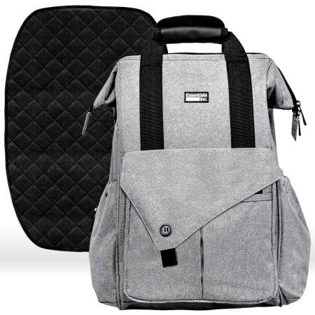 Diaper Bag Backpack with Stroller Straps, Baby Changing Mat & 13 Pockets - Insulated Milk Bottle Pockets, Water Resistant, Large Unisex Design for Men & Women