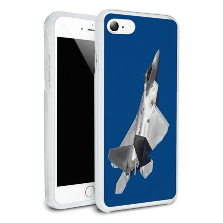 US Airforce F-22 Raptor Jet Fighter Protective Slim Hybrid Rubber Bumper Case for Apple iPhone (Best Fighter Jet Game Iphone)
