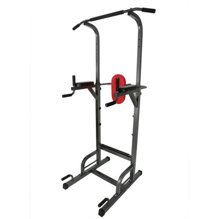 LANBOWO Power Tower Home Pull Up Bar Stand Adjustable Multi-Function Fitness Equipment Workout (Best Multi Station Home Gym)