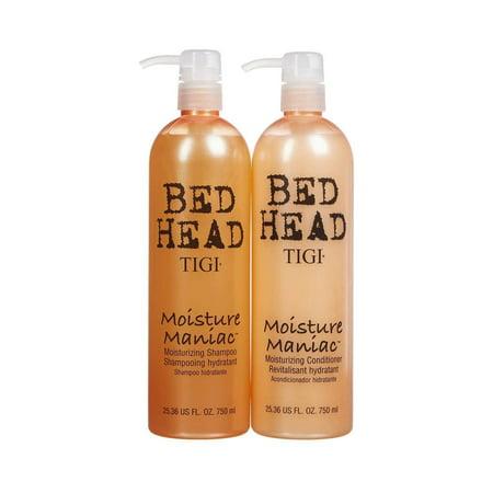 TIGI Bed Head Moisture Maniac Moisturizing Shampou and Conditionar 25.36 Oz Combo Pack