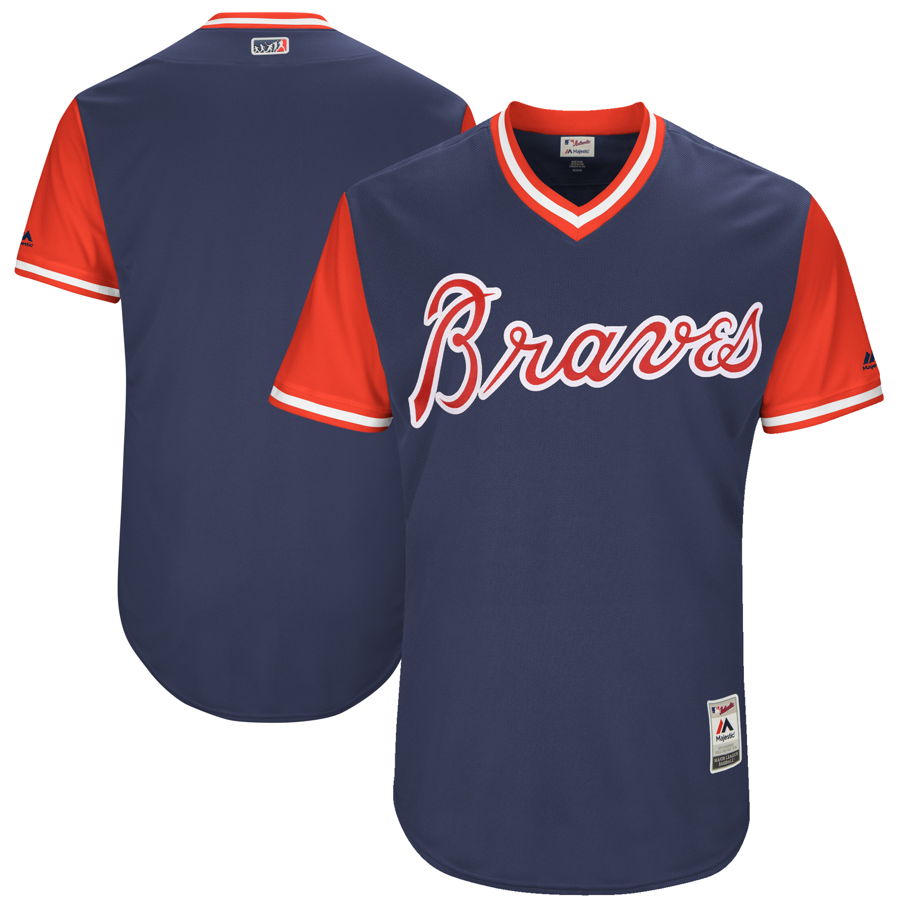Atlanta Braves Majestic 2017 Players Weekend Authentic Team Jersey - Navy