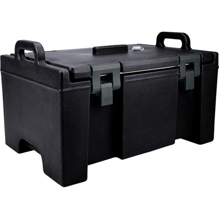 Cambro Insulated Food Carrier  Bulk Food Storage  Molded Handles  Black  Upc100 110