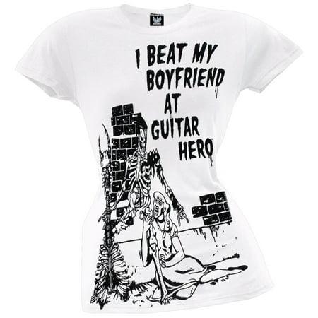 Guitar Hero - Skeleton Boyfriend Juniors T-Shirt - Guitar Skeleton