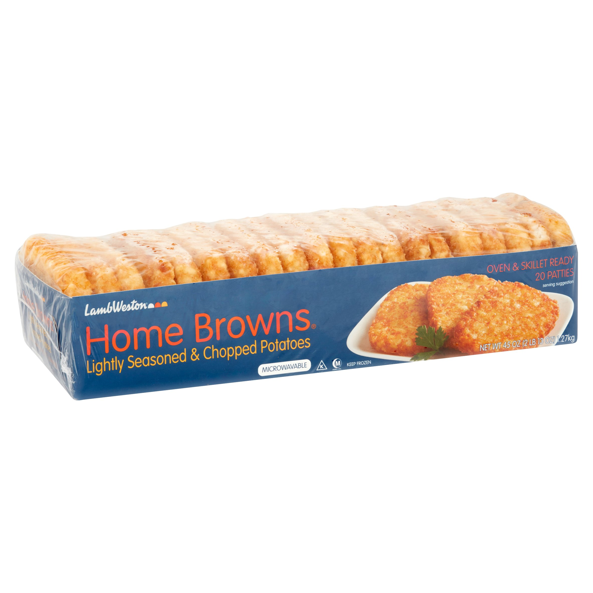 Home Browns Chopped w/Light Seasoning Potatoes, 20 ct - Walmart.com