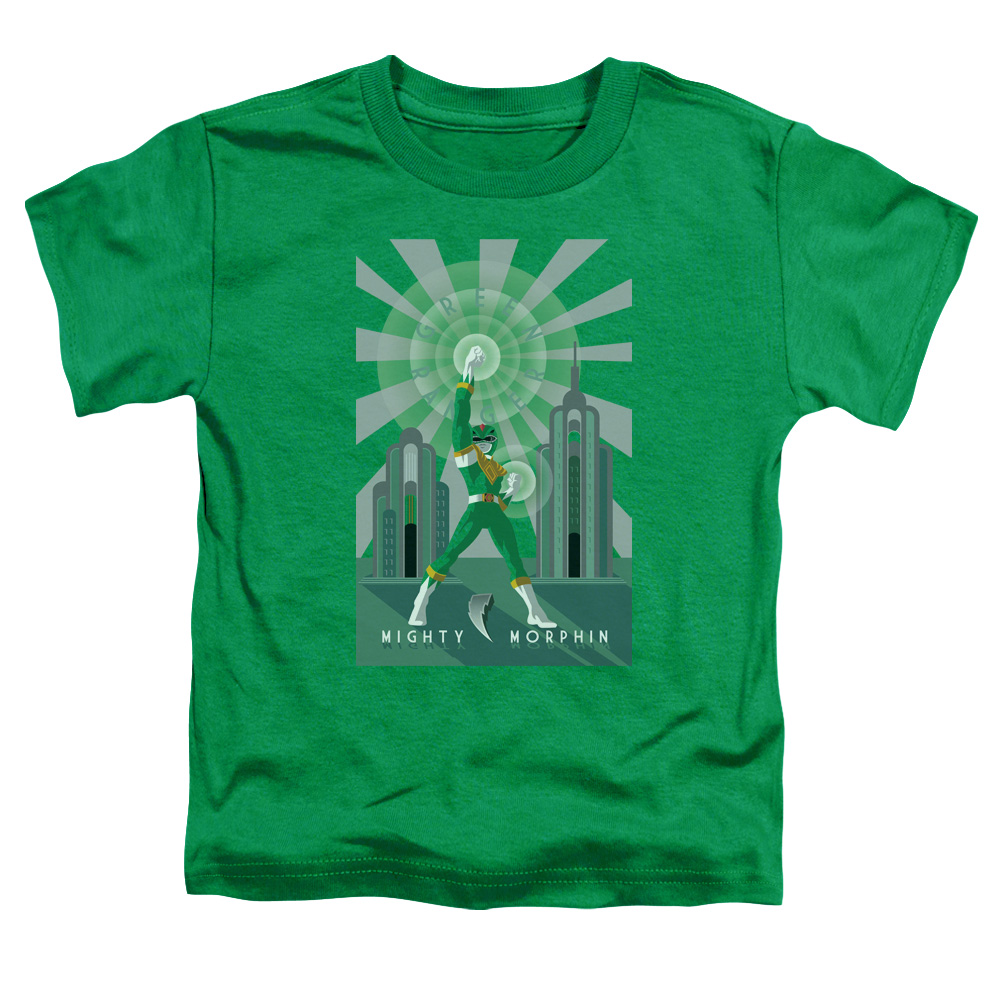 Power Rangers/Green Ranger Deco S/S Toddler Tee Kelly Green   Pwr129