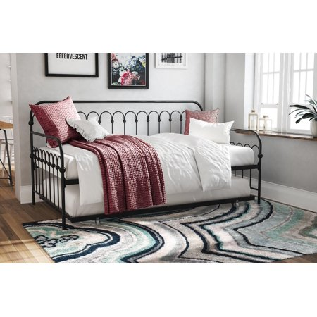 Novogratz Bright Pop Metal Daybed and Trundle Twin, Multiple Colors (Cherry Twin Size Daybed)