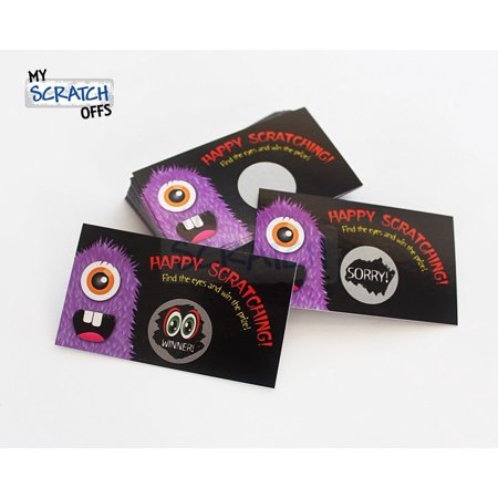Halloween Monster Scratch Off Game Card - 25 Cards (1 Winner)](Halloween French Games)