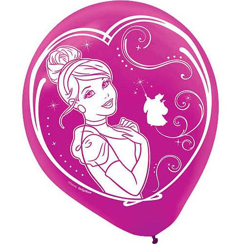 Cinderella 'Sparkle' Latex Balloons (6ct)