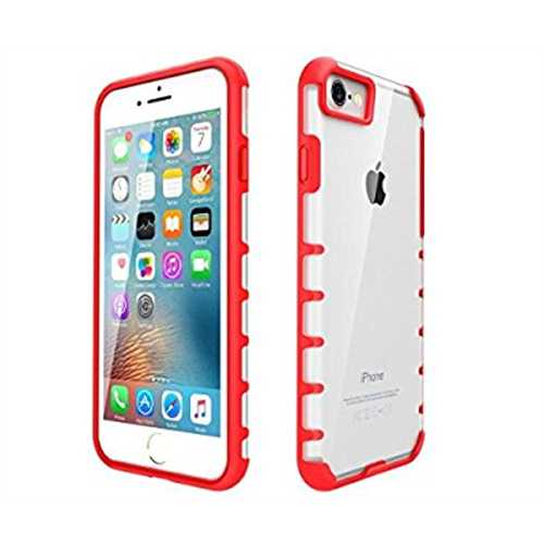 LAX Gadgets Trendy Case for iPhone 8 Plus and iPhone 7 Plus, White/Red