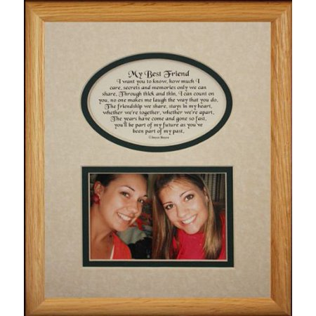 8X10 My Best Friend Picture & Poetry Photo Gift Frame ~ Cream/Hunter Green Mat ~ Heartfelt Keepsake Picture Frame For A Best Friend For Christmas, Birthday Or (Best Christmas Gift For A Duck Hunter)