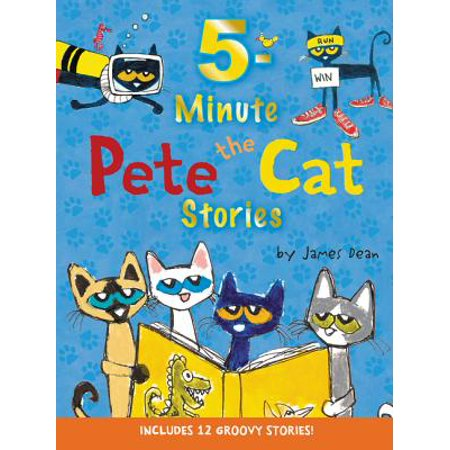 Pete the Cat: 5-Minute Pete the Cat Stories: Includes 12 Groovy Stories! (Harper Collins Pete The Cat Saves Christmas)