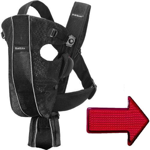 Baby Bjorn - Baby Carrier Original with LED Light - Mesh Black Silver