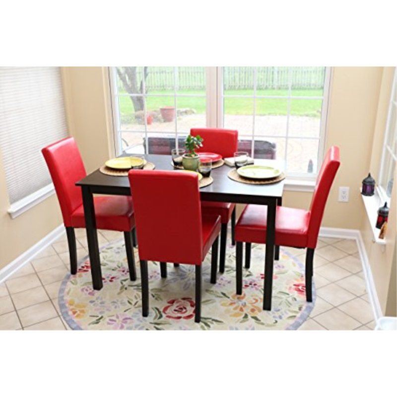 Table And Chairs Red Dining Dinette, Red Dining Room Set