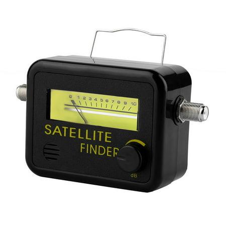 (SF-9501 Plastic Digital Satellite Signal Tester Level Meter Finder With LCD Display 950-2150MHz Black)