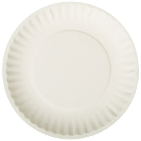 10 PACKS : AJM AJMPP6GRE Green Label Paper Plates, Microwavable, 6