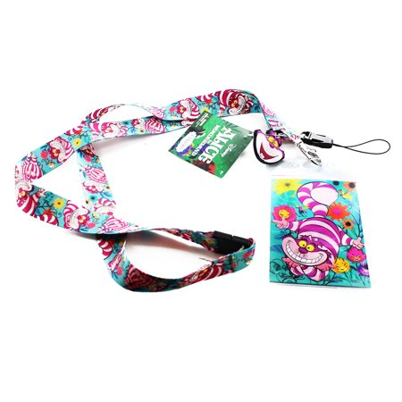 Alice In Wonderland Lanyard with Soft Touch Dangle: Cheshire Cat