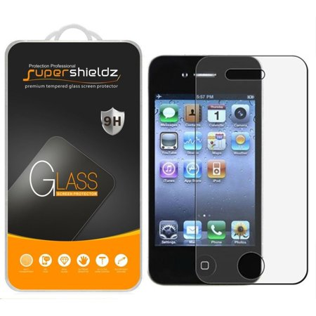[1-Pack] Supershieldz Apple iPhone 4 / 4S Tempered Glass Screen Protector, Anti-Scratch, Anti-Fingerprint, Bubble Free for $<!---->