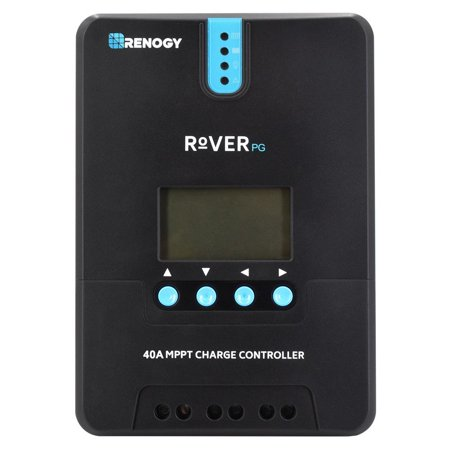 Renogy Rover 40 Amp Positive Ground MPPT Solar Charge Controller Battery Regulator with LCD Display Compatible with Lithium Battery and Renogy Bluetooth