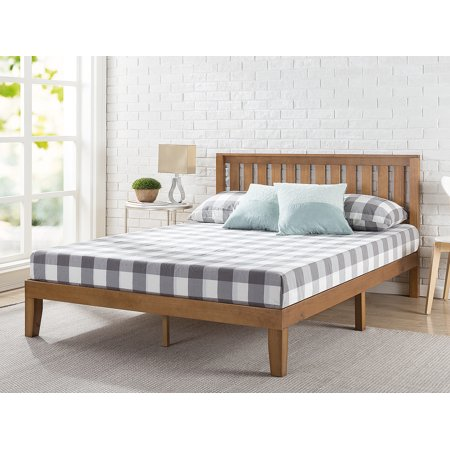 "Zinus Alexia 12"" Wood Platform Bed with Headboard, Rustic Pine Finish, Multiple Sizes"