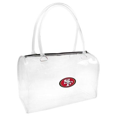 San Francisco 49ers Little Earth Women's Clear Bowler Purse - No Size