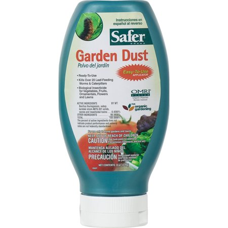 Safer Brand Garden Dust Caterpillar Killer with B.T. 8oz