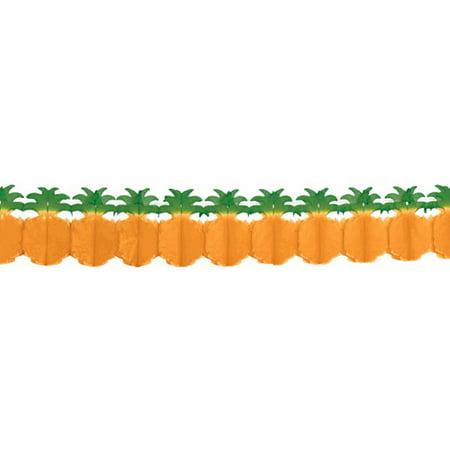 Hawaiian Luau Pineapple Tissue Garland (12ft)