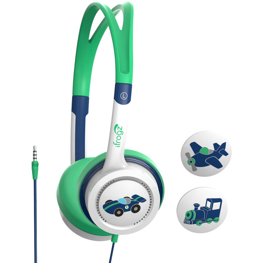 IFROGZ Little Rockers Headphones - Train, Plane, Race Car