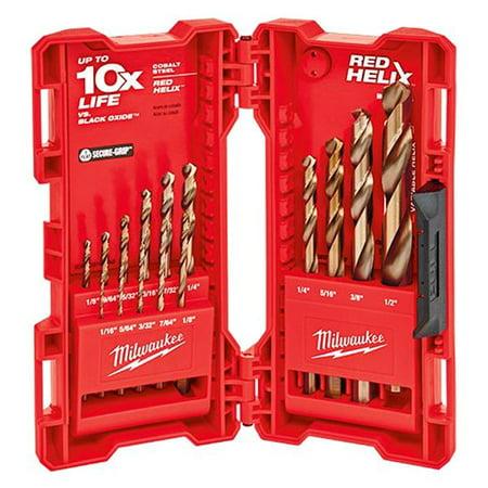 Milwaukee 48-89-2331 - 15-Piece RED HELIX Cobalt Fractional Drill Bit Set