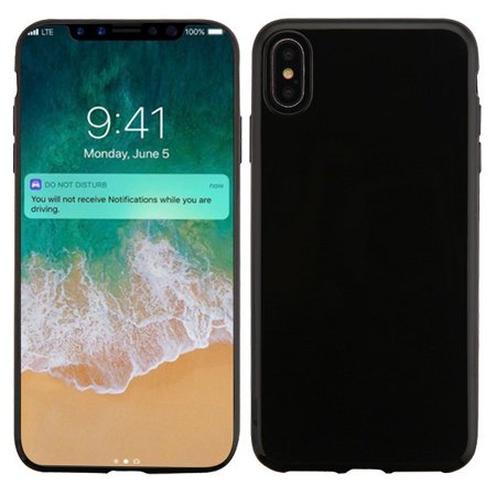 Apple iPhone Xs Max (6.5 Inch) Phone Case Slim Thin Hybrid Candy Silicone Rubber Gel Soft Protective Case Cover Jet Black Phone Case for Apple iPhone Xs Max Black Silicone Soft Rubber