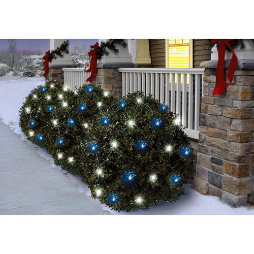 Holiday Time Random Twinkle LED Net Christmas Lights Cool White/Blue, 150 Count