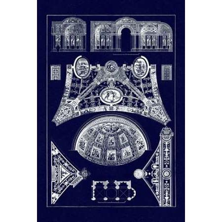 (Cross Vaults of the Renaissance Poster Print by J Buhlmann)