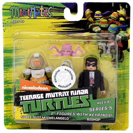 Teenage Mutant Ninja Turtles Minimates Space Suit Michelangelo & Bishop Minimates Keychains - Army Ninja Suit